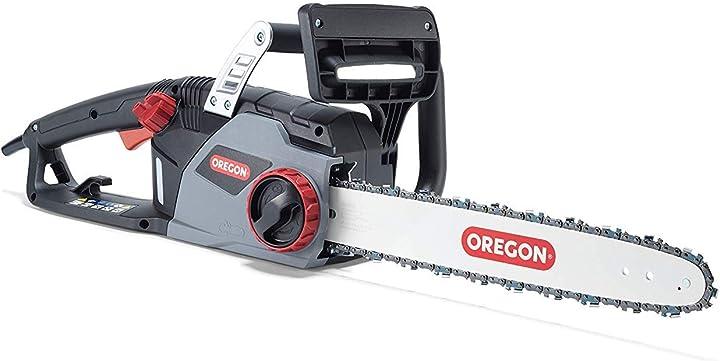 Motosega elettrica oregon da 2400 w potente sega elettrica con catena controlcut e barra guida da 40 cm 603349