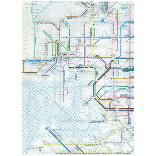 東京カートグラフィック 鉄道路線図クリアファイル 関西 英語 RFKE