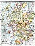 Poster 30 x 40 cm: Karte: Schottland (Englisch) von Granger
