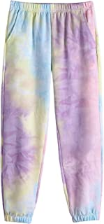 Greatchy Kids Girls Tie Dye Sweatpants Joggers Casual Legging Athletic Activewear Sport Pants with Pocket