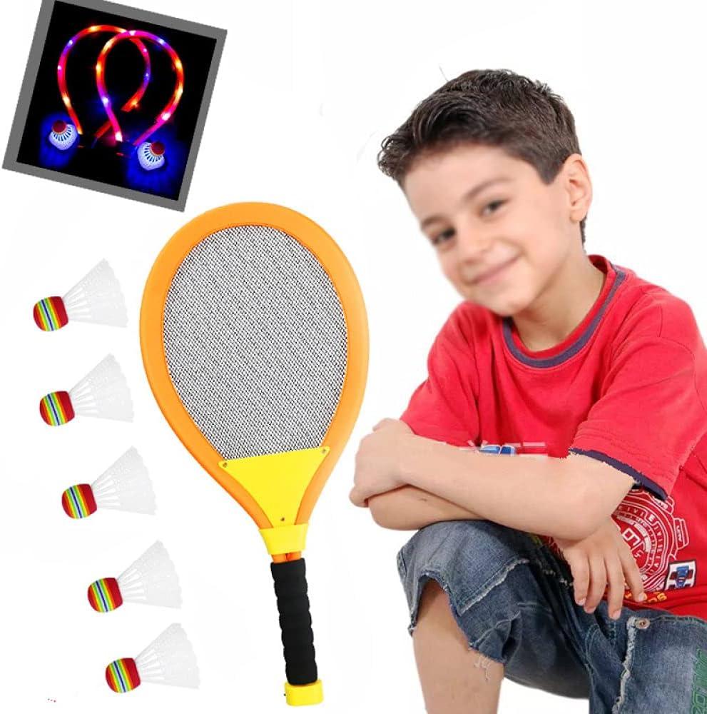 Led Badminton Racket Set with The Dark Night Light-Up Oversized