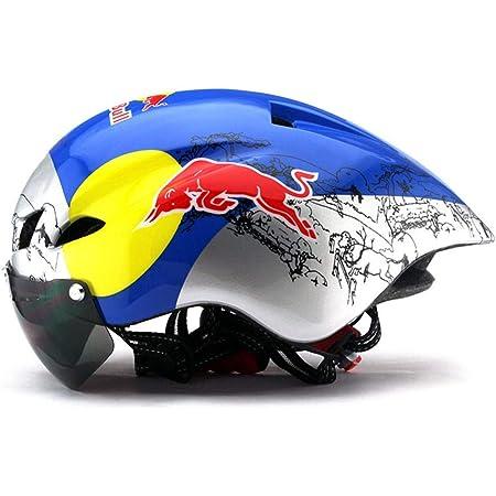Qxfj Fullface Helm Motorradhelm Fahrradhelm Abs Gehäuse Dot Ece Zertifizierung Mehrere Entlüftungsöffnungen Coole Form Schnellverschluss Herausnehmbares Futter Schutzbrille Geben Red Bull Sport Freizeit