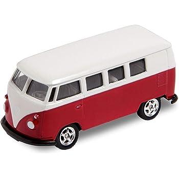 1962 Bulli T1 rot Modellauto 1:60 Metall Spritzguss Neuware von WELLY! VW Bus