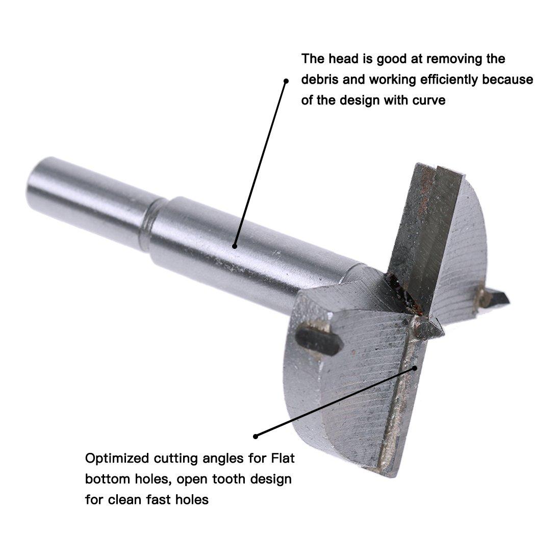 6 Pieza Forstner para Madera Wanxida Drill Bits Set Diámetros 30 ...