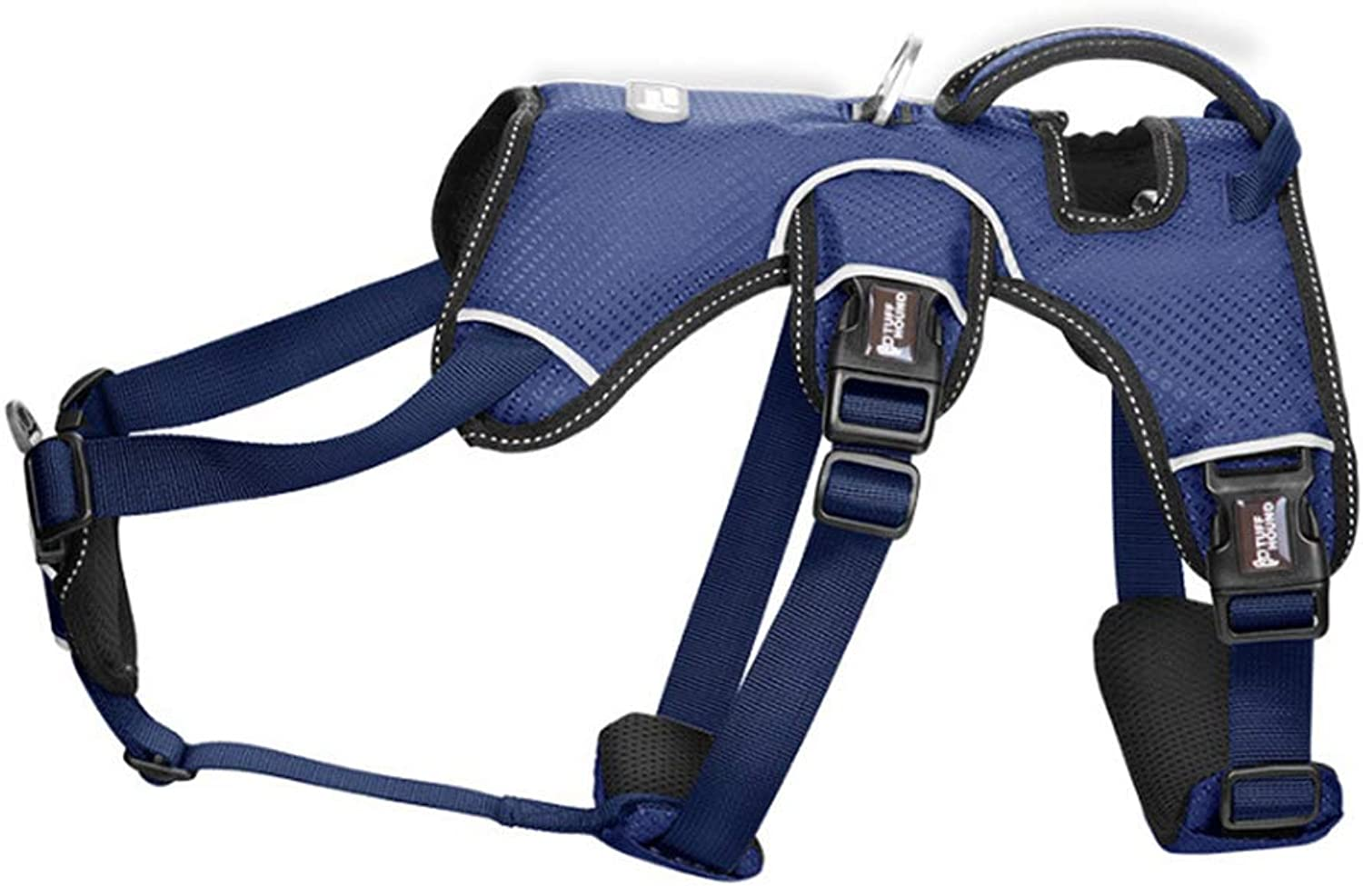 Dog Chest Strap with Traction Rope MediumSized Large Dog pet Dog Chain Hyena Rope Collar Reflective Breathable (color   bluee, Size   S)