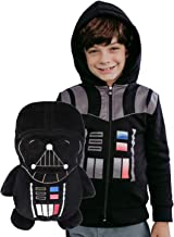 Cubcoats Star Wars Darth Vader - 2-in-1 Transforming Hoodie and Soft Plushie - Black