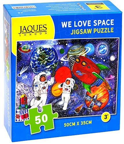 We Love Space - Rompecabezas de Jaques London para niños - Rompecabezas de 50 Piezas para niños - Rompecabezas Recomendado para niños de 4 años -