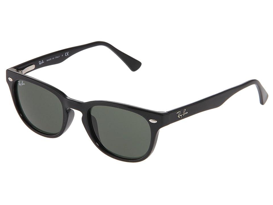 Ray-Ban RB4140 (Black/Crystal Green Lens) Fashion Sunglasses