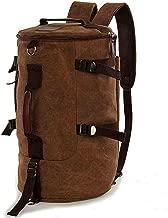 Men women Fashion Big Cylindrical backpack Canvas Leisure Travel Bag computer bag School[Moy-BR15]