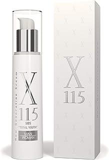 X115® Crema Antirughe Uomo | Airless 50 ml | Crema Viso Effetto Lifting | Anti-Age Tripla Azione: IDRATANTE, LIFTANTE, RID...
