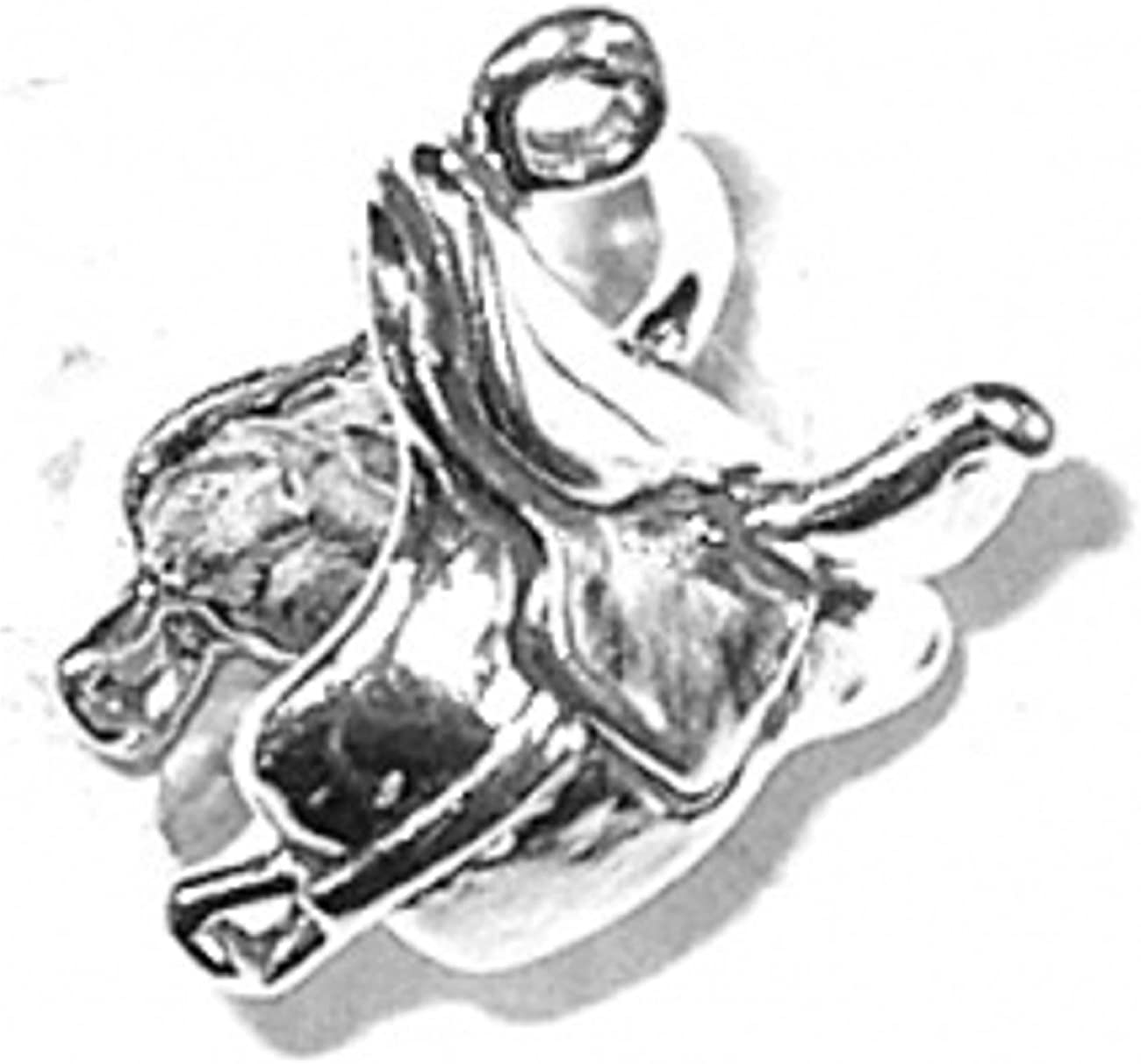 Sterling Silver 3D Side Saddle Horses For Riding Limited Special Price Charlotte Mall Charm