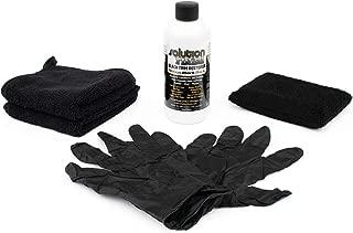 The Rag Company Solution Finish Full Installation KIT: 12 oz Black Plastic Trim Restorer Super Size 12 oz + 2 Microfiber Towels from Applicator Sponge + Gloves