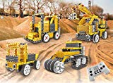RockLab 4 in 1 Building Robots for Kids Motorized Toys with Remote Control