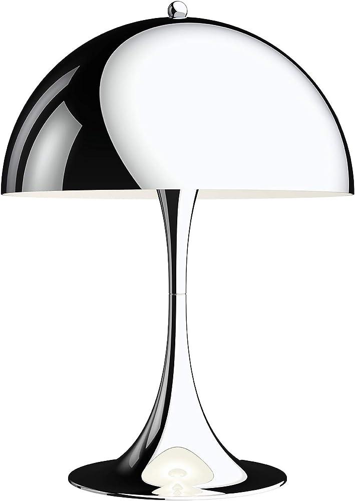 Louis poulsen,panthella 320 table lamp, lampada da tavolo,in alluminio pressofuso,finitura acrilico cromato 5744167178