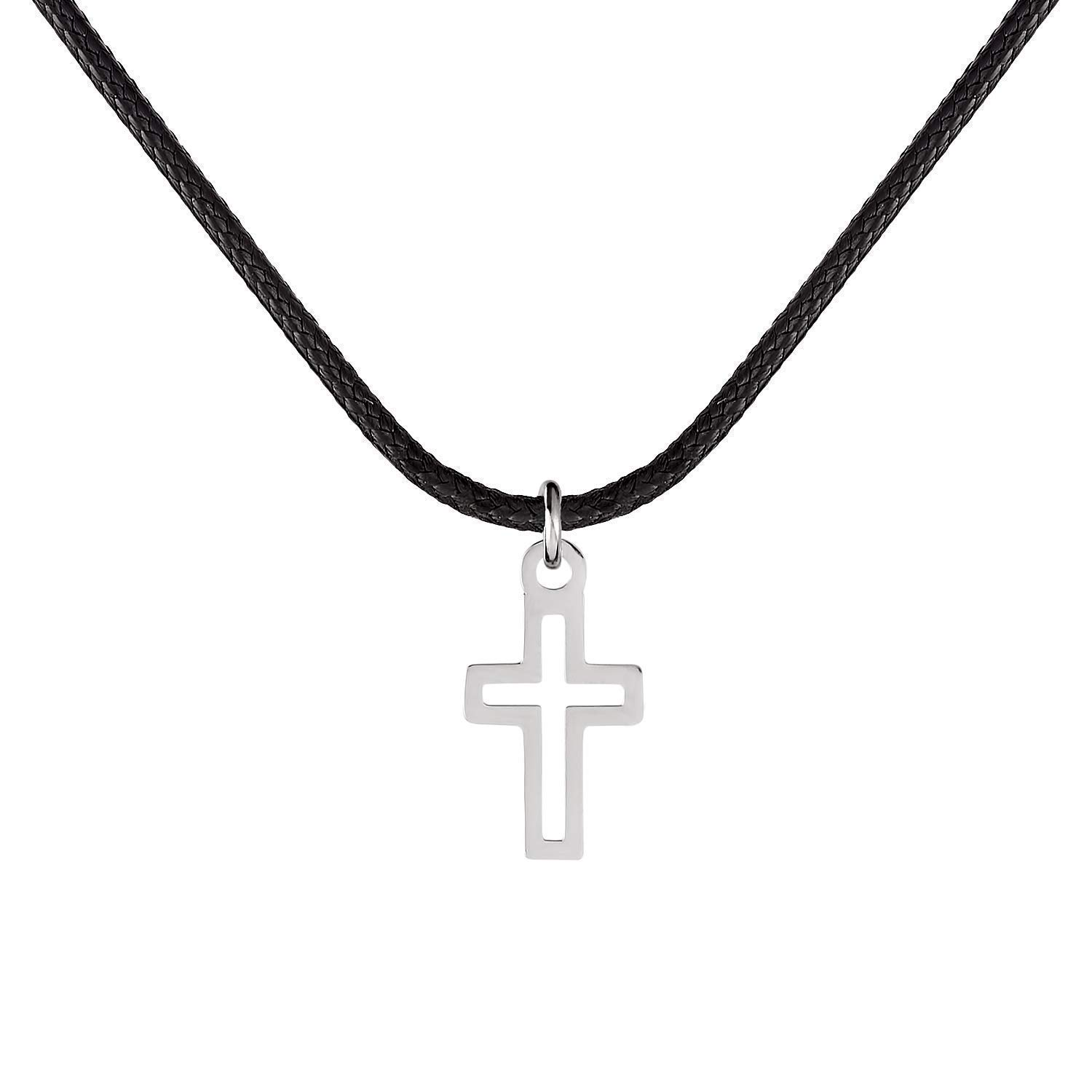 Handmade Black Fabric Necklace For Max 77% OFF Set Men Stainless Steel Free shipping anywhere in the nation With
