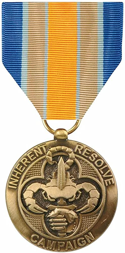 Inherent Resolve Campaign Medal Product Size Reg Free shipping anywhere in the nation Finish Full