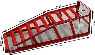 Elevador Gato hidr/áulico Acero Ancho Rueda 225 mm Rueda Izquierda 2T ECD Germany Rampa de Taller mecanico Rampas de Servicio Acceso para Mantenimiento autom/óviles Coche Altura Ajustable