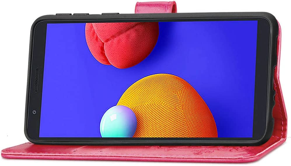 COTDINFOR Coque for Samsung Galaxy A01 Core Coque Svelte PU pour Femme Lucky Clover Shockproof avec b/équille Protecteur Flip /Étui Housse Case pour Galaxy A01 Core Cover Clover Gray SD