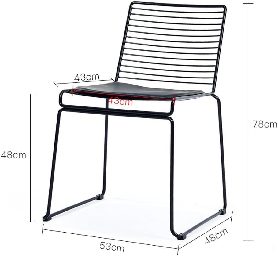 FENDOU Chaise de Salle à Manger créative Minimaliste Moderne Chaise de Loisirs à la Maison Mode (Color : A) C