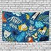 イエローブルーバナナアート寝室の部屋の寮の家の装飾のためのタペストリー壁掛け毛布タペストリー