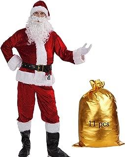 Christmas Velvet Adult Santa Suit Men's Deluxe Santa Claus Costume