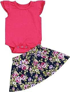 NewZhu Baby Boy Girl Brother and Sister Matching Fashion Outfits Short Sleeve T-Shirt Tops + Shorts Set