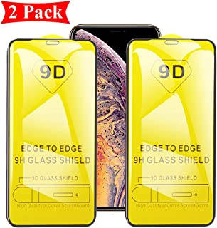 2 Pack Xmax Screen Protector Compatible with iPhone Xs MAX Tempered Glass XSMAX 9d Full Cover