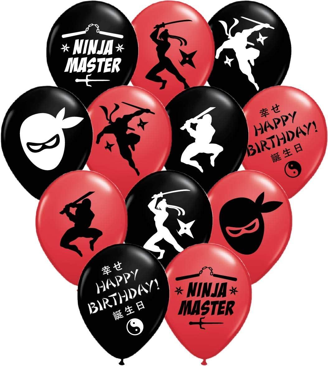 Gypsy Jade's Ninja Master Party Balloons - 12