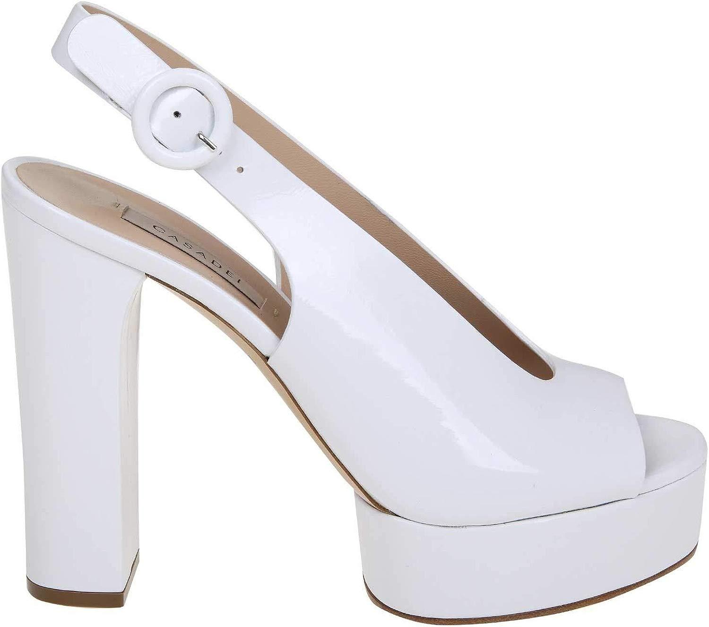 Casadei Luxury Fashion Damen 1L303M1201RAIN900 Weiss Sandalen   Frühling Sommer 19