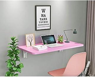 AJH Établi Pliant de Table Murale Pliante, Table Pliante de Bureau à abattant Table de Salle à Manger économiseur d'espace...
