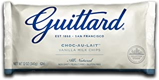 Guittard Chocolate Chips, Choco-au-Lait Milk Vanilla, 12 Ounce (Pack of 12)