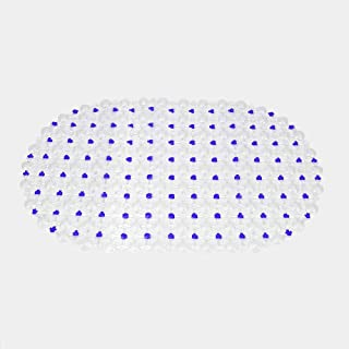 Transparent PVC Bath Mat Non-Slip Bathmat Bathtub Mats Bath Mat Bathroom Shower Pad Transparent Carpet PVC Bathroom Products Suction Cup Purple
