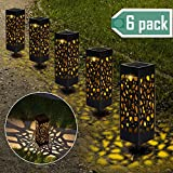 【6 Stück 】Solarleuchten Garten, Solar Gartenleuchte IP65 Wasserdichte, Solarlampen für Garten Solarleuchte Dekoration Licht für Außen Fahrstraßen Sicherheits Lichter Garten Patio Rasen