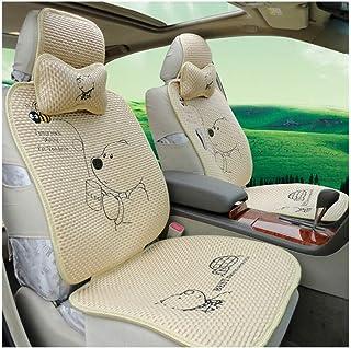 JKHOIUH Protector Universal 3D del cinturón de Seguridad: el Mejor Protector Antideslizante de los Asientos de Seda de Hielo for automóvil: Perfecto for automóviles, sedán, camión, SUV y Furgoneta.