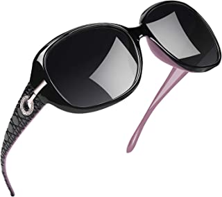 Polarized Sunglasses for Women Vintage Big Frame Sun Glasses Ladies Shades