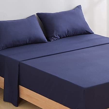 Details about  /Riosee Queen Size Bedding Printed Bed Sheet Set 1 Flat Sheet and 2 Pillowcases
