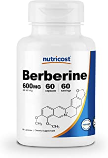 Nutricost Berberine HCl 600mg, 60 Capsules - Gluten Free, Veggie Caps, Non-GMO (60 Caps)