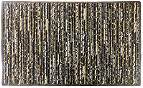 Chenille Striped Entrance Rug, Non-Skid Home, Kitchen, Floor Mat, Comfortable Standing Rug, 17