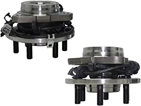 Detroit Axle - Both (2) 4x4 New 6-Lug Front Driver & Passenger Side Complete Wheel Hub and Bearing Assembly w/ABS - for 97-04 Dakota 4x4 - [98-03 Durango 4x4]