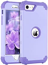 """BENTOBEN iPhone SE 2020 Phone Case, Heavy Duty 3 in 1 Full Body Rugged Shockproof Hybrid Hard PC Soft Rubber Bumper Drop Protective Girls Women Cover for 4.7"""" iPhone SE 2nd 2020, Light Purple/Lavender"""