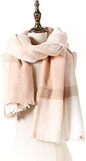 Natural Feelings Fashionable Cozy Soft Big Grid Winter Scarf Wrap Shawl for Women