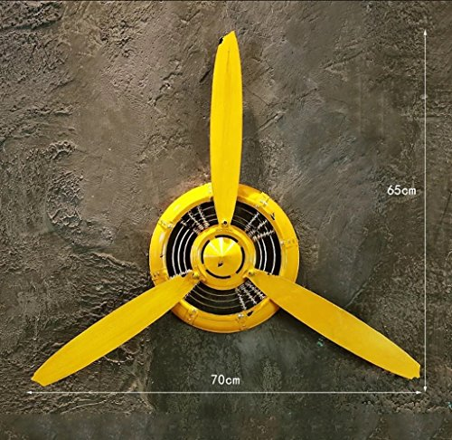 QBZS-YJ Retro Industrial Airplane Propeller Wrought Iron Wall Hanging Wall Decoration Pendant Bar Restaurant Cafe (Color : B)