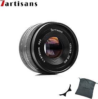 Factory Direct 7artans F1.8 APS-C - Lente de enfoque manual 50 mm para cámaras compactas sin espejo Canon M1 M2 M3 M5 M6 M10 EOS-M color negro