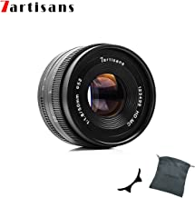 7artisans 50mm F1.8 APS-C Manual Fixed Lens for Fuji Cameras X-A1 X-A10 X-A2,X-A3 X-at X-M1 XM2 X-T1 X-T10 X-T2 X-T20 X-Pro1 X-Pro2 X-E1 X-E2 X-E2s-Black