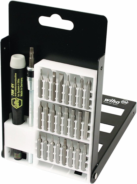 Austauschbares Wiha-75992-System-4-Präzisions-Bit-Set - - - Torx, Slotted, Phillips, Hex, ESD-sicherer Präzisionsgriff - 27 Stück in kompakter Box B0000WTBO4 | Feine Verarbeitung  af7160