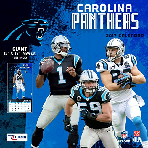 "Turner Licensing Sport 2017 Carolina Panthers Team Wall Calendar, 12""X12"" (17998011903)"