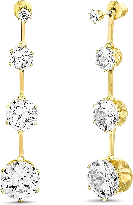 Badgley Mischka Rhinestone Yellow Stick Drop Earrings for Women