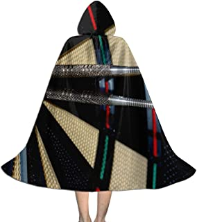 Flag Dart On Target Center Kids Hooded Cloak Cape for Halloween Christmas Party,Child's Cosplay Witch Wizard Vampire Costumes with Hat