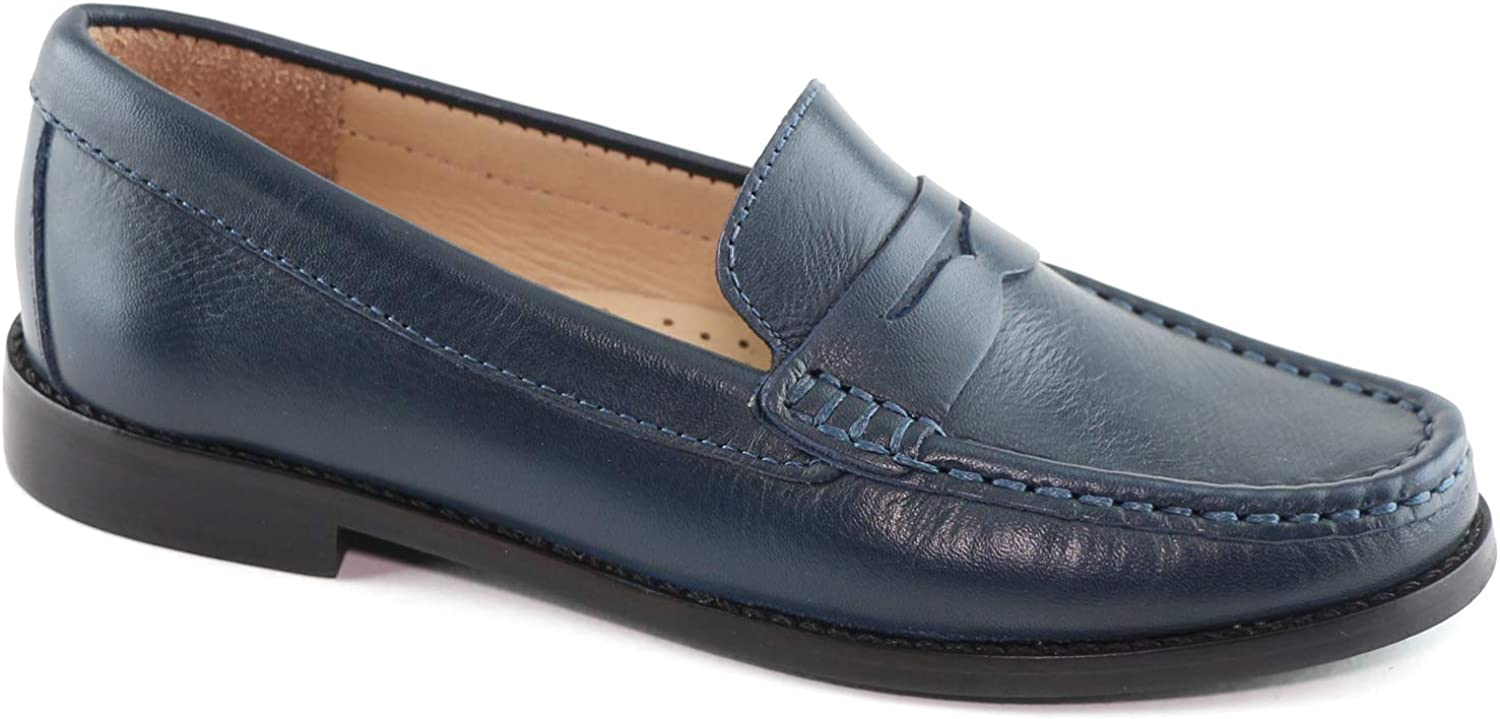 Driver Club USA Kids Boys/Girls Genuine Leather Made in Brazil Greenwich Penny Loafer