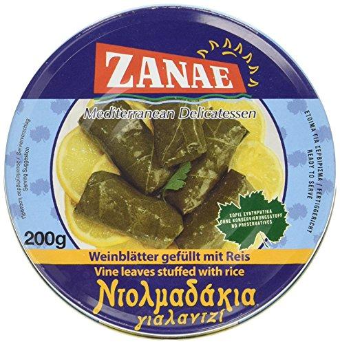 Zanae Weinblätter mit Reis, in Öl (1 x 200 g Packung)